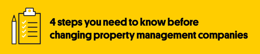 How to Change Property Management Companies