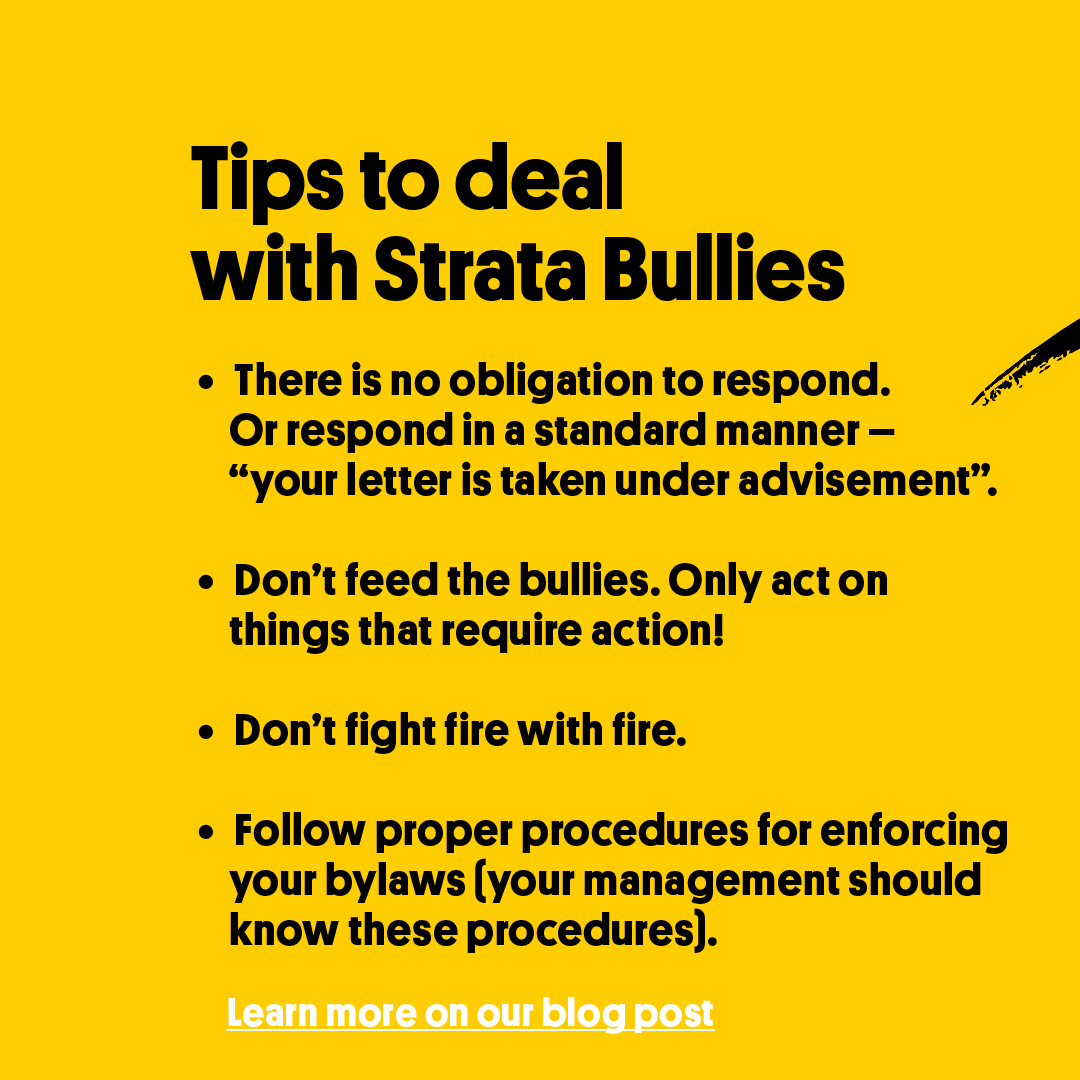 Strata Council Bullies