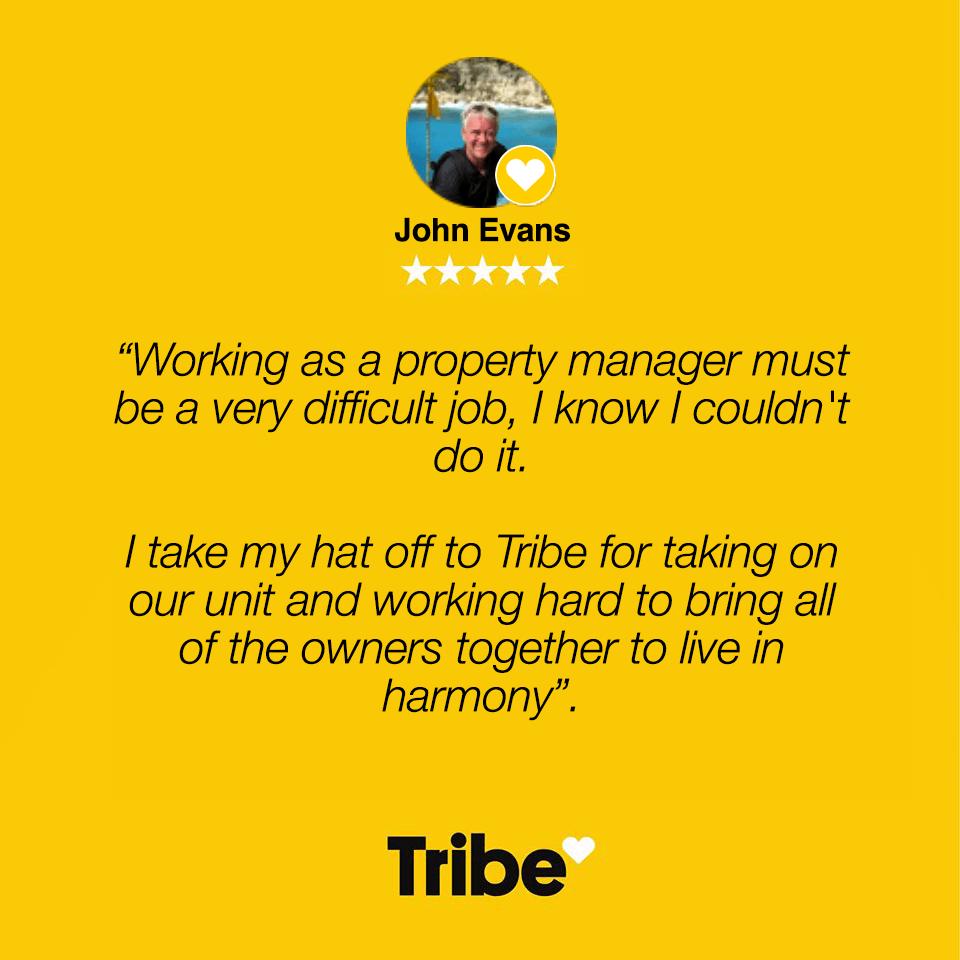 Tribe Management Testimonial - John E
